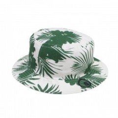 "seedleSs ハット ""REVERSIBLE FLOWER BUCKET HAT"" Wh/Grn"