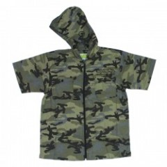 "seedleSs S/Sフードシャツ ""ZIP UP HOODY SHIRTS S/S"" Camo"