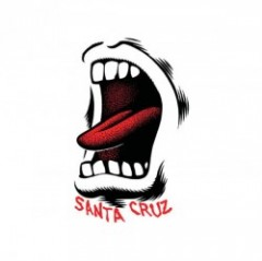 "SANTACRUZ ステッカー ""SCREAMING MOUTH 3.5'"""