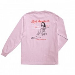 "LOSER MACHINE L/STシャツ ""QUESTIONABLE L/S TEE"" (Pink)"
