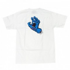 "SANTACRUZ Tシャツ ""SCREAMING HAND TEE"" (White)"