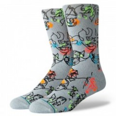 "STANCE×GREGORY SIFF ソックス ""ELECTRIC SLIDE"" (Heather Gray)"