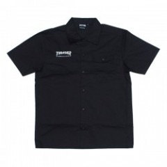 "THRASHER S/Sシャツ ""MAG S/S WORK SHIRT"" (Black/White)"