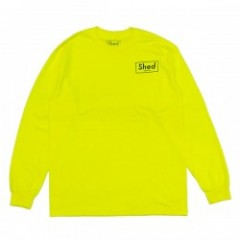 "Shed L/STシャツ ""box POLS"" (Lime)"