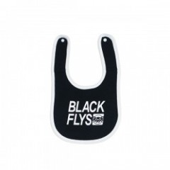 "BLACKFLYS ""BOX STANDARD TRADE BABY BIB"" (Black)"