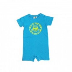 "BLACKFLYS ロンパース ""SHUT UP BABY ROMPERS"" (Aqua)"