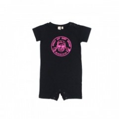 "BLACKFLYS ロンパース ""SHUT UP BABY ROMPERS"" (Black)"