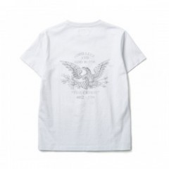 "★30%OFF★CRIMIE ""EAGLE CREW POCKET T-SHIRT"" (White)"