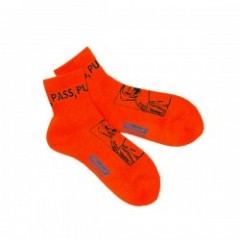 "RADIALL ソックス ""2PAC SOX PASS MIDDLE"" (Orange)"