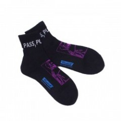 "RADIALL ソックス ""2PAC SOX PASS MIDDLE"" (Black)"