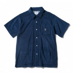 "FUCT SSDD S/Sシャツ ""FRENCH TERRY S/S SHIRT"" (Navy)"