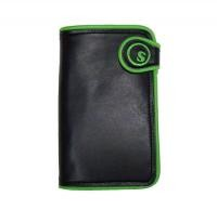 "seedleSs 財布 ""SD LEATHER WALLET S-DOT"" (Black/Green"