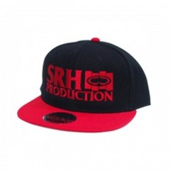 "SRH キャップ ""BK FLAG SNAPBACK CAP"" (Black/Red)"