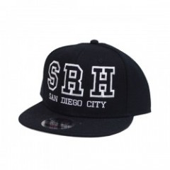 "SRH キャップ ""COLLEGE SNAPBACK CAP"" (Black)"