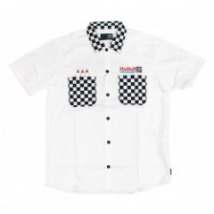 "MxMxM ""MxMxM CHECKERS WORK SHIRT "" (White)"