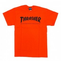 "★30%OFF★ THRASHER Tシャツ ""MAG LOGO TEE"" (Orange/Blk)"