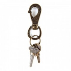"BRIXTON キーチェーン ""SCROLL KEYCHAIN"" (Antique Bronze)"