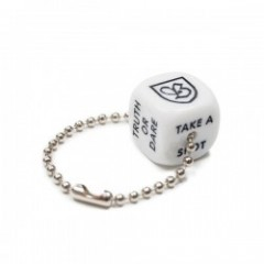 "BRIXTON キーホルダー ""BAR DICE SET"" (White)"
