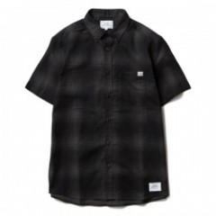 "★30%OFF★ CRIMIE ""BRYAN S/S CHECK SHIRTS"" (Black)"