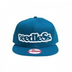 "seedleSs キャップ ""SD NEW ERA SNAP BACK"" (Shark Blue)"