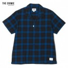 "CRIMIE S/Sシャツ "" OMBRE CHECK SHORT SLEEVE SHIRT"" (Blue)"
