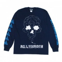"DxAxM L/S Tシャツ ""ROLL YOUR OWN L/S TEE"" (Navy)"