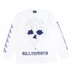 "DxAxM L/S Tシャツ ""ROLL YOUR OWN L/S TEE"" (White)"