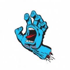 "SANTACRUZ ステッカー ""SCREAMING HAND 6'"" (Blue)"