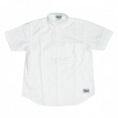 "Shed S/Sシャツ ""authentic oxford"" (white)"