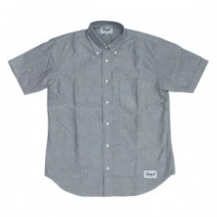 "Shed S/Sシャツ ""authentic oxford"" (gray)"