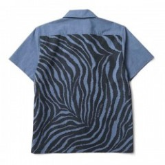 "CRIMIE S/Sシャツ ""CHAMBRAY TIGER SHIRT"" (Navy)"