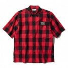 "RADIALL S/Sシャツ ""SYNDICATE REGULAR COLLARED SHIRT S/S"" (Red)"