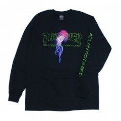 "THRASHER L/STシャツ ""ATLANTIC DRIFT L/S TEE"" (Black)"