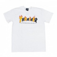 "THRASHER Tシャツ ""FLAME MAG S/S TEE"" (White)"