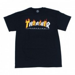 "THRASHER Tシャツ ""FLAME MAG S/S TEE"" (Black)"