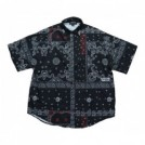 "AFFECTER S/Sシャツ ""DOT CO PAISLEY SHIRTS"" (Black)"