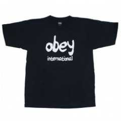 "OBEY Tシャツ ""OBEY FESTIVAL HEAVYWEIGHT CLASSIS BOX TEE"" (Off Black)"