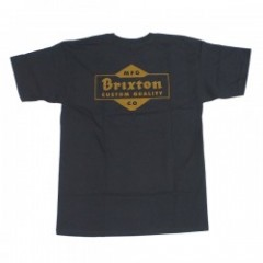 "BRIXTON Tシャツ ""CROWICH S/S STND TEE"" (Washed Black)"