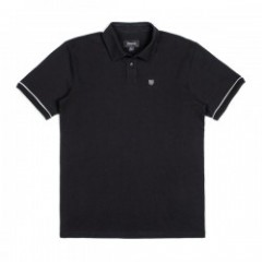 "BRIXTON ポロシャツ ""CARLOS S/S POLO KNIT"" (Black)"