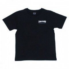 "THRASHER ポケットTシャツ ""HOMETOWN POCKET TEE"" (Blk/Wht)"