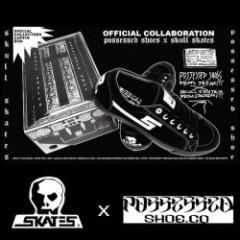 "【10月中旬入荷予定】 SKULL SKATES x POSSESSED SHOE.CO コラボシューズ ""S2 SLAPPY"" (Black)"