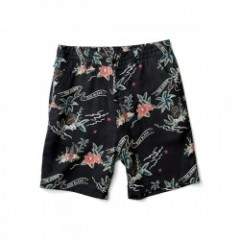 "★30%OFF★ CRIMIE ショーツ ""CR ALOHA ROY SHORTS "" (Black)"