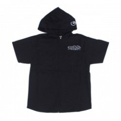 "seedleSs S/Sフードシャツ ""ZIP UP HOODY SHIRTS 17"" (Black"