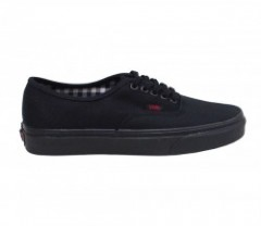 "★30%OFF★ VANS ""AUTHENTIC"" (TWILL&GINGHAM) Blk/Blk"