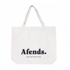 "AFENDS  ""QUESTION EVERYTHING TOTE BAG"" (Natural)"