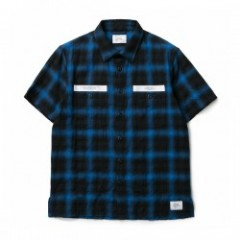 "★20%OFF★ CRIMIE S/Sシャツ ""CHECK WORK SHIRT"" (Blue)"