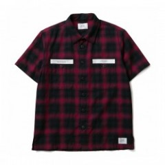 "★20%OFF★ CRIMIE S/Sシャツ ""CHECK WORK SHIRT"" (Red)"