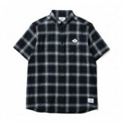 "★20%OFF★ CRIMIE S/Sシャツ ""CHECK B.D SHIRT"" (Blue)"