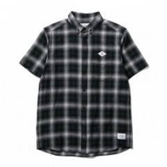 "★20%OFF★ CRIMIE S/Sシャツ ""CHECK B.D SHIRT"" (Black)"
