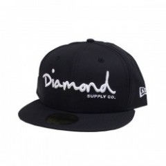 "DIAMOND SUPPLY CO. ""OG SCRIPT PORTO FITTED"" (Black"